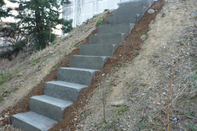 屋外階段 修理工事(静岡県西部)