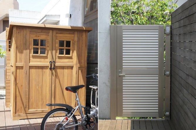 木製物置・門扉設置