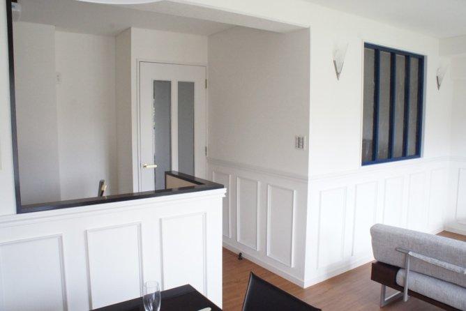 オープンキッチン・腰壁