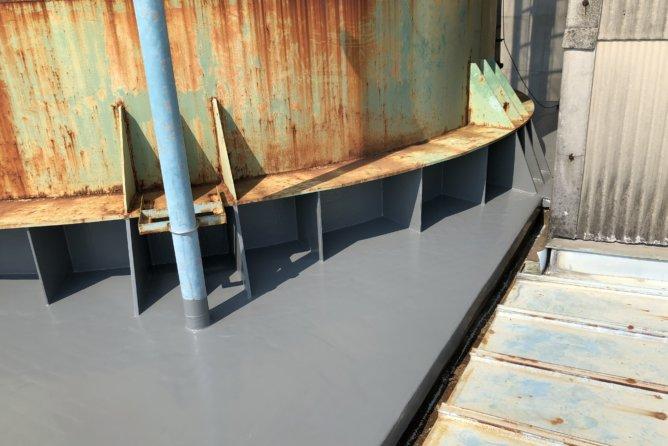 サイロ 鋼板溶接・雨漏り防水工事