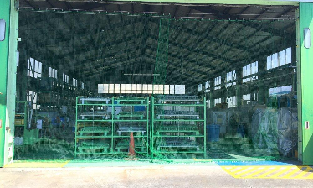 出入口防鳥ネット設置工事